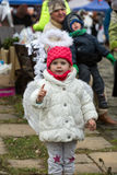 L'angelo di inverno-festival nella città di provincia Immagini Stock Libere da Diritti