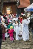 L'angelo di inverno-festival nella città di provincia Immagini Stock