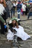 L'angelo di inverno-festival nella città di provincia Fotografia Stock