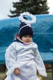 L'angelo di inverno-festival nella città di provincia Fotografie Stock