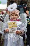 L'angelo di inverno-festival nella città di provincia Immagine Stock Libera da Diritti