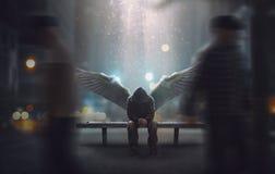 L'angelo ha lasciato trascurato fotografia stock libera da diritti