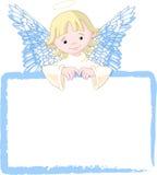L'angelo sveglio invita & dispone la scheda Immagine Stock
