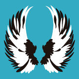 L'angelo traversa il fumetto volando Fotografie Stock