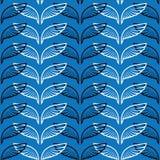 L'angelo traversa il modello volando blu di schizzo Fotografia Stock Libera da Diritti