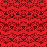 L'angelo traversa il modello volando rosso di schizzo Immagini Stock