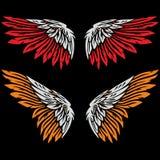 L'angelo traversa l'illustrazione volando del disegno Fotografia Stock