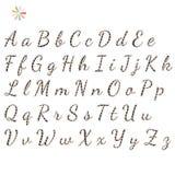 L'anglais d'alphabet Photo libre de droits