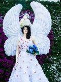 L'angle de statue à l'ASEAN de Chiangrai fleurit le festival 2014 Image stock