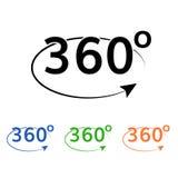l'angle 360 tournent l'icône Photos libres de droits