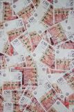 L'Angleterre billet de banque de cinquante livres Image stock