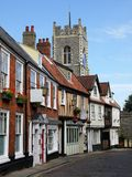 l'Angleterre : rue historique à Norwich Photos libres de droits