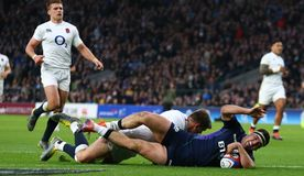 L'Angleterre v Ecosse - les nations de Guinness six photo stock