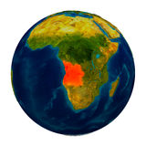 L'Angola a accentué sur le globe Photographie stock libre de droits