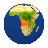 L'Angola a accentué sur terre Photo libre de droits