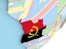 L'Angola avec le drapeau Illustration Libre de Droits