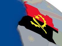 L'Angola avec le drapeau Photo stock