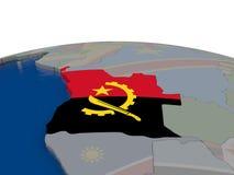 L'Angola avec le drapeau Photographie stock libre de droits