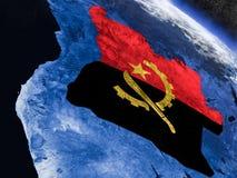 L'Angola avec le drapeau incorporé de l'espace illustration libre de droits