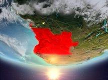 L'Angola avec le soleil Photos stock