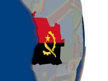L'Angola avec son drapeau Photo libre de droits
