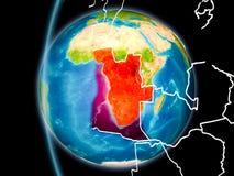 L'Angola de l'espace dans la soirée illustration de vecteur