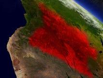 L'Angola de l'espace accentué en rouge illustration libre de droits