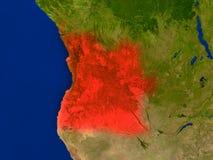 L'Angola de l'espace en rouge illustration stock