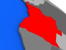 L'Angola en rouge Image libre de droits