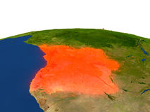 L'Angola en rouge d'orbite Image libre de droits