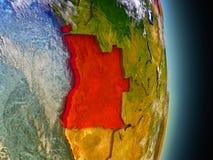 L'Angola en rouge de l'espace illustration libre de droits