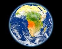 L'Angola en rouge de l'espace illustration de vecteur