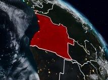 L'Angola la nuit illustration de vecteur