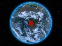 L'Angola la nuit sur terre illustration de vecteur