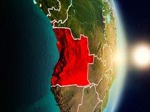 L'Angola pendant le lever de soleil Image stock