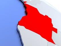 L'Angola sur la carte du monde Image libre de droits