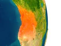L'Angola sur la planète Images stock