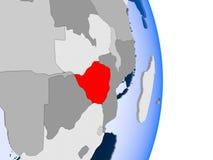 L'Angola sur le globe Photographie stock