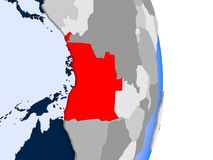 L'Angola sur le globe illustration de vecteur