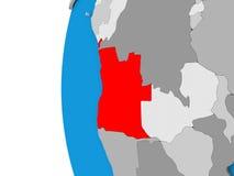 L'Angola sur le globe Image stock