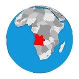 L'Angola sur le globe Photo libre de droits