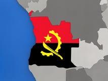L'Angola sur le globe Photo stock
