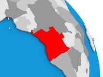 L'Angola sur le globe Photos libres de droits