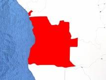 L'Angola sur le globe Image libre de droits