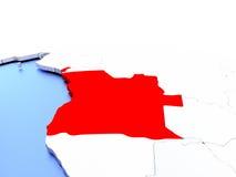 L'Angola sur le globe illustration libre de droits
