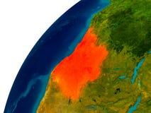L'Angola sur le globe illustration stock