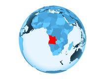 L'Angola sur le globe bleu d'isolement illustration de vecteur