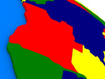L'Angola sur le globe 3D coloré Image stock