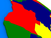 L'Angola sur le globe 3D coloré Images stock