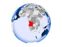 L'Angola sur le globe d'isolement illustration libre de droits